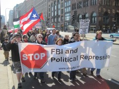 Contingent organized by Committee Against Political Repression (CAPR) in Chicago
